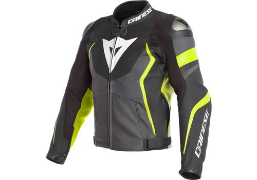 Dainese Dainese Avro 4 leather Jacket Black Yellow Fluo