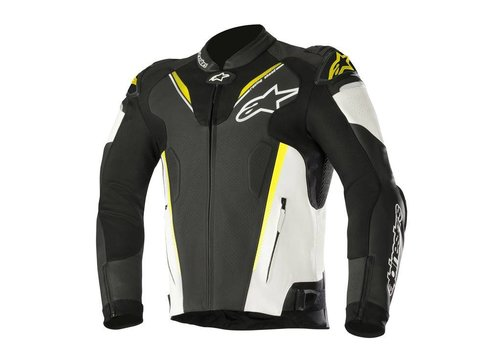 Alpinestars Alpinestars Atem V3 leather Jacket Black White Yellow Fluo