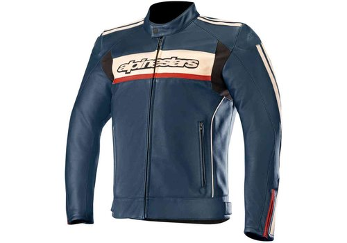 Alpinestars Alpinestars Dyno V2 leather Jacket  Dark Blue White