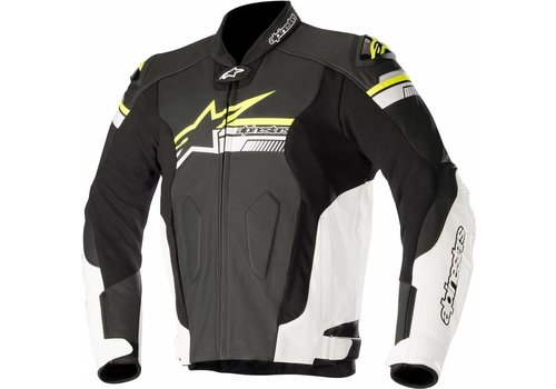 Alpinestars Alpinestars Fuji Leather Jacket Black White Yellow Fluo
