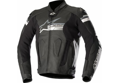 Alpinestars Alpinestars Fuji Leather Jacket Black Red