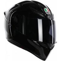 AGV K-1 Schwarz Helm + 50% Rabatt auf ein Extra Visier!