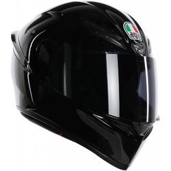 AGV AGV K-1 Schwarz Helm + 50% Rabatt auf ein Extra Visier!