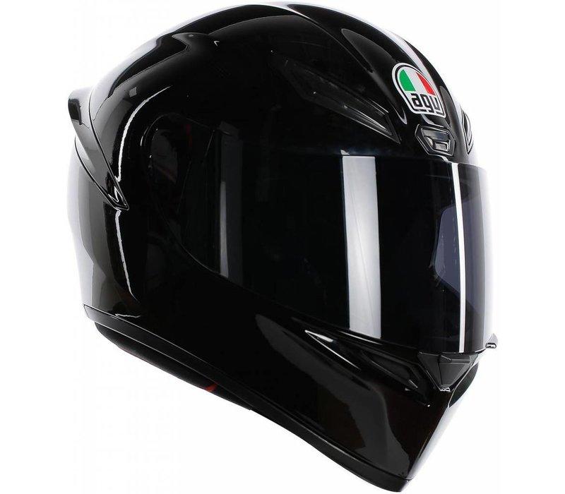 AGV K-1 Schwarz Helm + 50% Rabatt auf einem Extra Visier!
