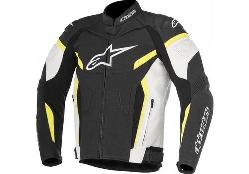 Alpinestars Alpinestars GP Plus R V2 Leather Jacket Black White Yellow Fluo