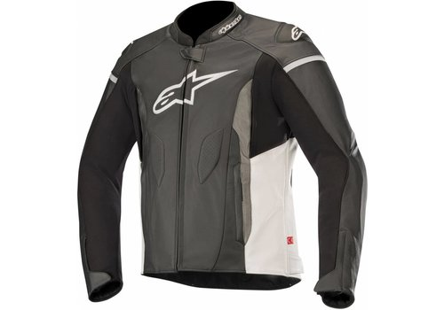 Alpinestars Alpinestars Faster Leather Jacket Black White