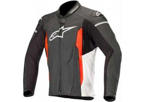 Alpinestars Alpinestars Faster Leather Jacket Black White Red