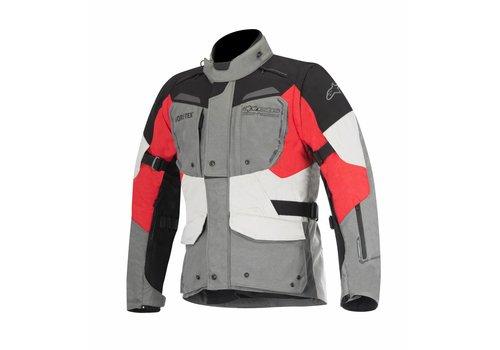 Alpinestars Durban Gore-Tex Motorradjacke Grau Schwarz Rot