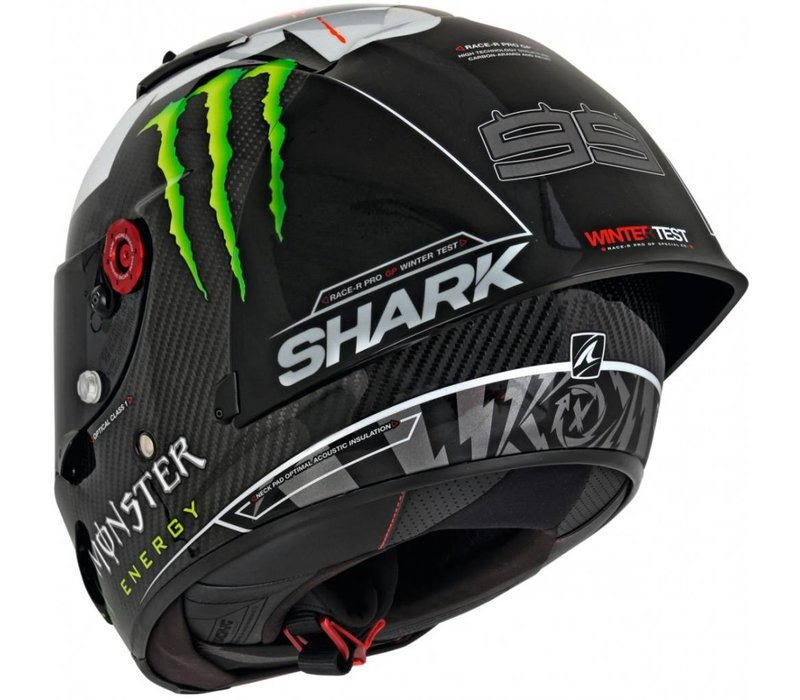 shark race r pro gp lorenzo winter test 2018 helm. Black Bedroom Furniture Sets. Home Design Ideas