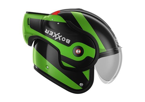 ROOF Boxxer Fuzo Fiberglass Шлем черный зеленый