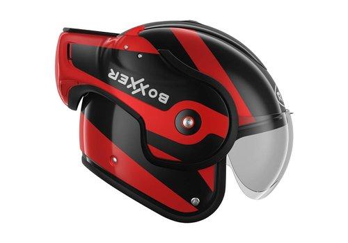 ROOF Boxxer Fuzo Fiberglass Modular Helmet Black Red