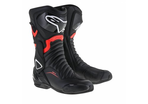 Alpinestars SMX 6 V2 Drystar Boots Black Red Fluo