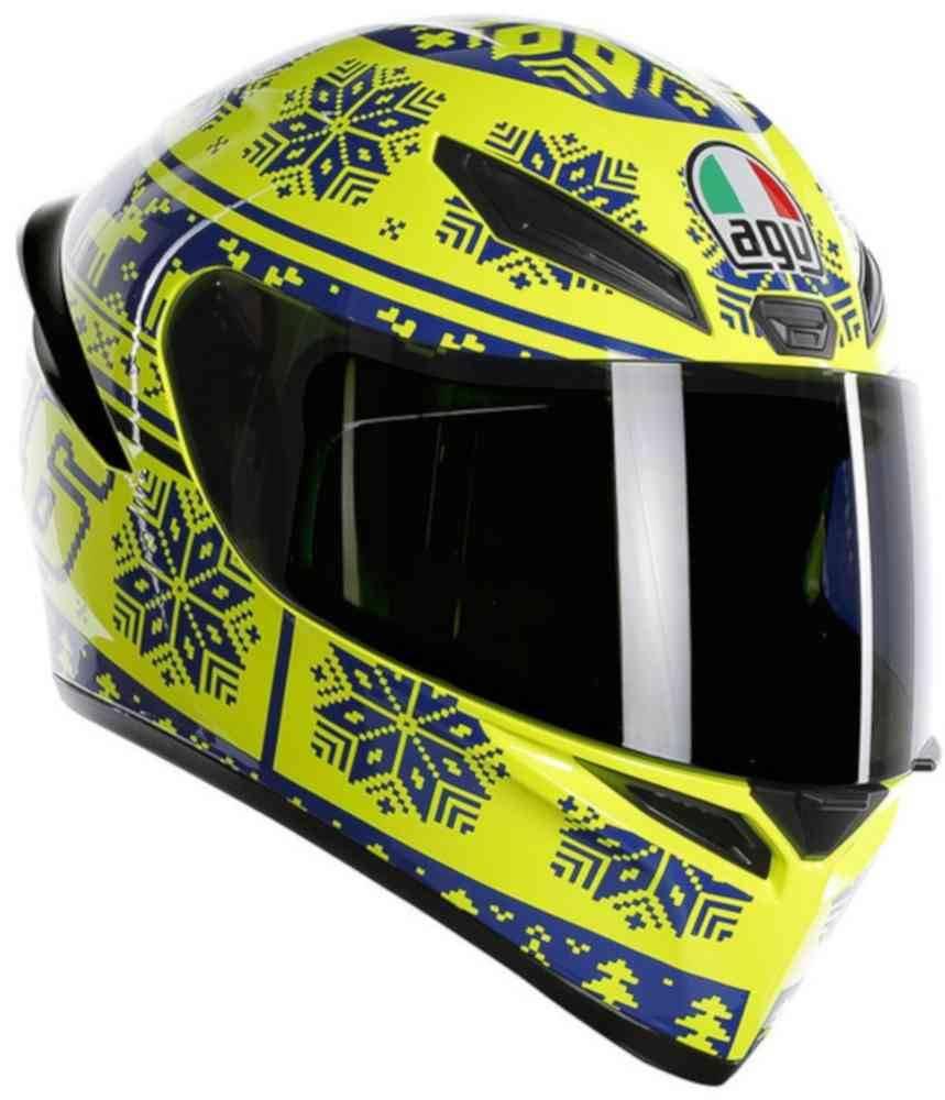 57 MS AGV Helm Pista GP R Rossi Winter Te st 2019