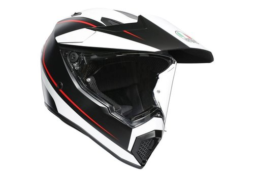 AGV AX-9 Pacific Road Matt Zwart Wit Rood Helm