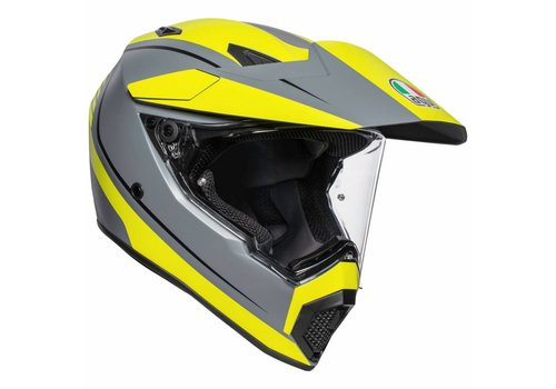 AGV AX-9 Pacific Road Matt Grey Fluo Yellow Black Helmet