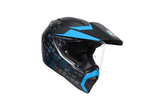 AGV AX-9 Antartica Matt Black Blue Helmet