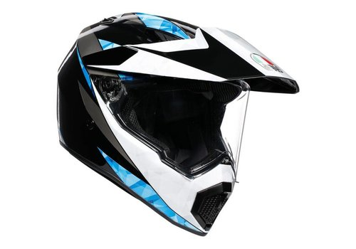 AGV AX-9 North Negro Blanco Azul Casco
