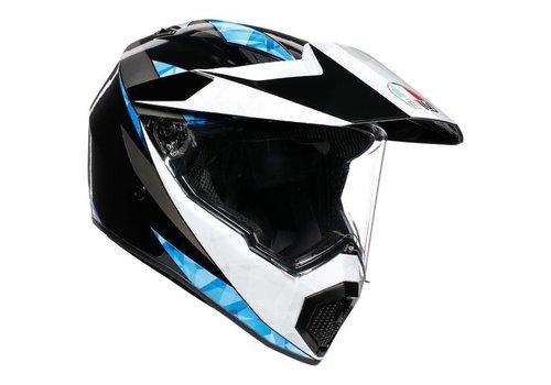 AGV AX-9 North Zwart Wit Blauw Helm