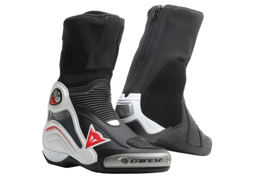 Dainese Axial D1 Stivali Nero Bianca Rosso