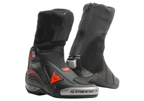 Dainese Axial D1 Boots Black Fluo Red