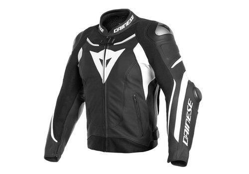 Dainese Super Speed 3 Lederjacke Schwarz Weiß