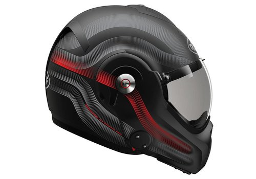 ROOF ROOF Desmo 3 Helmet Streamline Black Titan Red