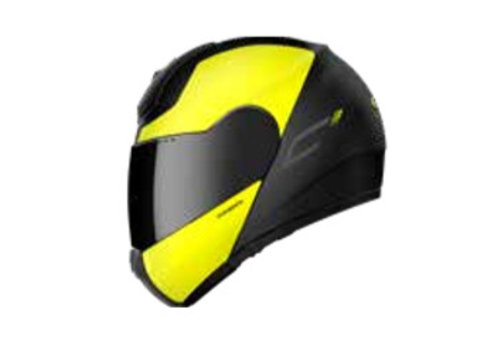 Schuberth C3 Pro Split Helm Black Yellow Glossy