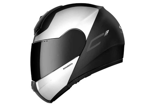 Schuberth C3 Pro Split Helm Black White Glossy