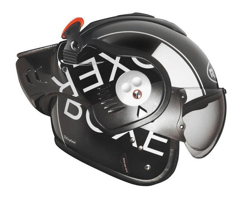 Boxer V8 Graphic Grey Black helmet