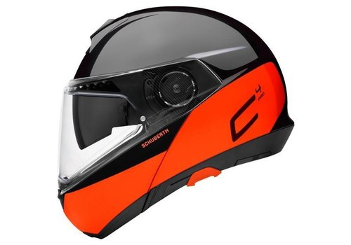 Schuberth C4 Pro Swipe Helm Black Orange Glossy
