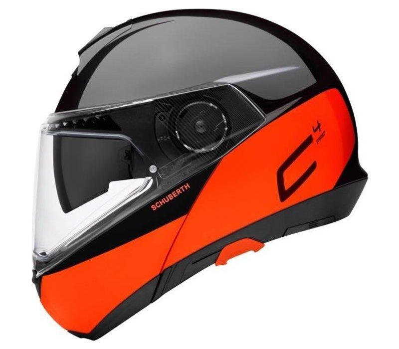 d6ca06e7 Buy Schuberth C4 Pro Swipe Helmet Black Orange Glossy? + Free Additional  Visor!