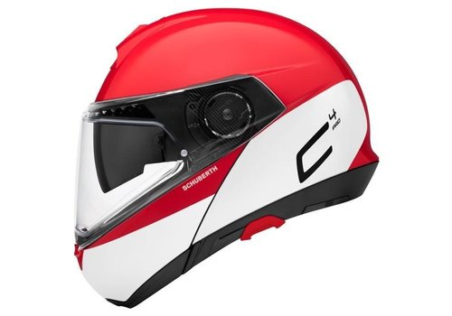 Schuberth C4 Pro Swipe Helm Red White Glossy