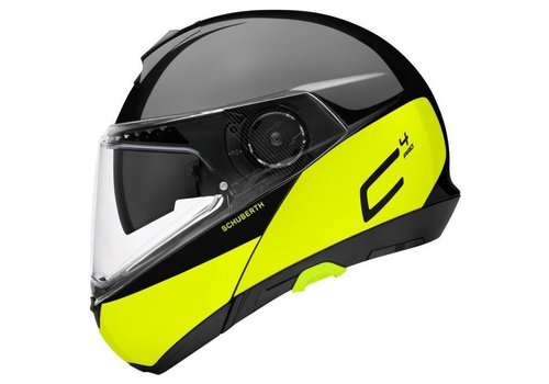Schuberth C4 Pro Swipe Helm Black Yellow Glossy