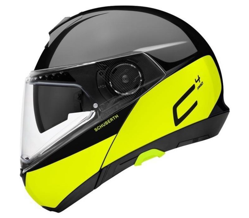 ec943106 Buy Schuberth C4 Pro Swipe Helmet Black Yellow Glossy? + Free Additional  Visor!