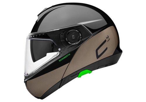 Schuberth C4 Pro Swipe Helm Glanzend Zwart