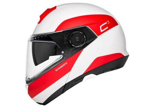 Schuberth C4 Pro Fragment Helmet White Red Matt
