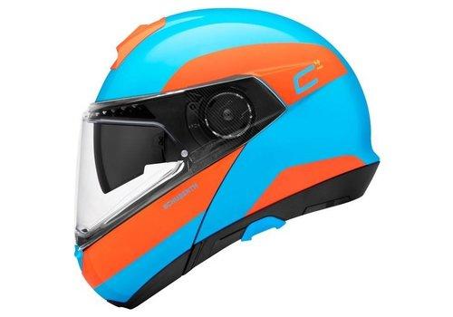 Schuberth C4 Pro Fragment Helm Blue Orange Glossy