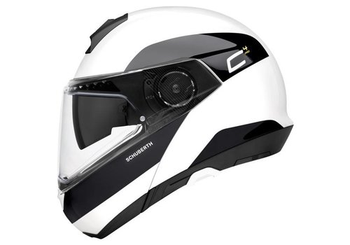 Schuberth C4 Pro Fragment Helmet White Black