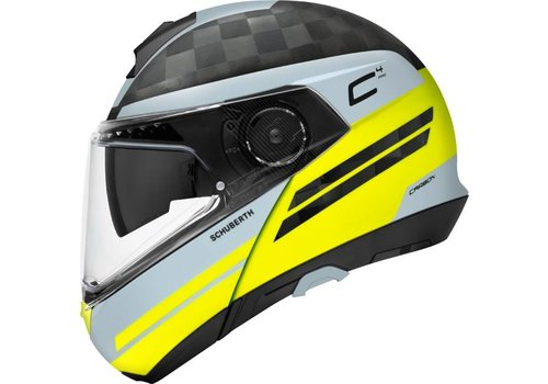 Schuberth C4 Pro Tempest Carbon Helm Grey Yellow