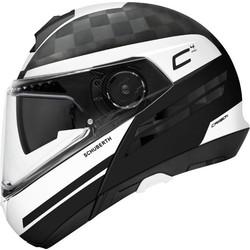 Schuberth Schuberth C4 Pro Tempest Carbon Helmet Black White + 50% discount Extra Visor!