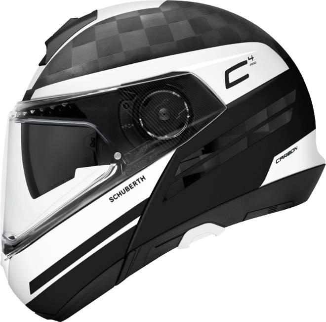 Schuberth C4 Pro Tempest Carbon Helmet Black White