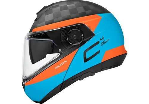 Schuberth C4 Pro Delta Carbon Helm  Blue