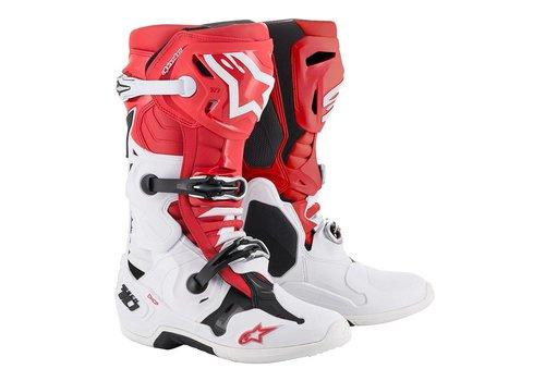 Alpinestars Tech 10 Stiefel Rot Weiss