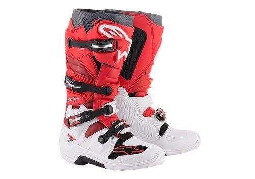 Alpinestars Tech 7 Stiefel Weiß Rot