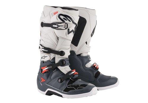 Alpinestars Tech 7 Laarzen Donkergrijs Rood Fluo