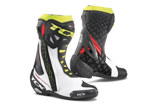 TCX RT-RACE Boots White Red Yellow Fluo
