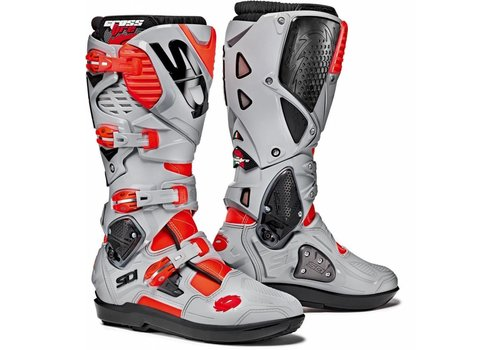 Sidi Crossfire 3 SRS Bottes Gris Rouge Fluo