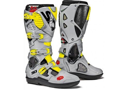 Sidi Crossfire 3 SRS Boots Grey Yellow Fluo
