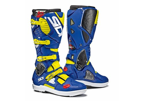 Sidi Crossfire 3 SRS Ботинки Синий желтый Fluo
