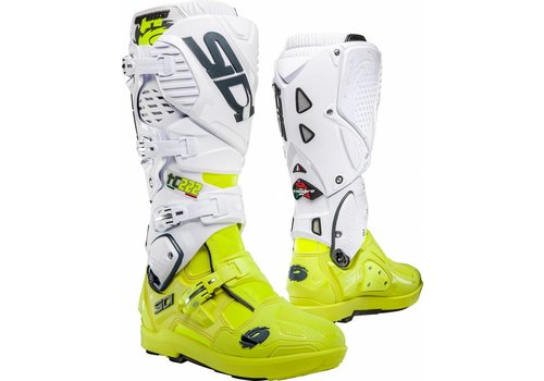 Sidi Crossfire 3 SRS Boots TC222 2018 White Yellow